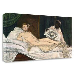 """24"""" x 36"""" Olympia by Edouard Manet Print on Canvas"""