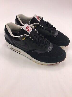 Nike Air Max 1 Rasta Mens Sz 13 307133 003 Blk Suede Reggae Jamaica | eBay
