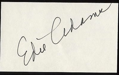 Edie Adams Signed Index Card Signature Autographed Auto Harmonious Colors Autographs-original Cards & Papers