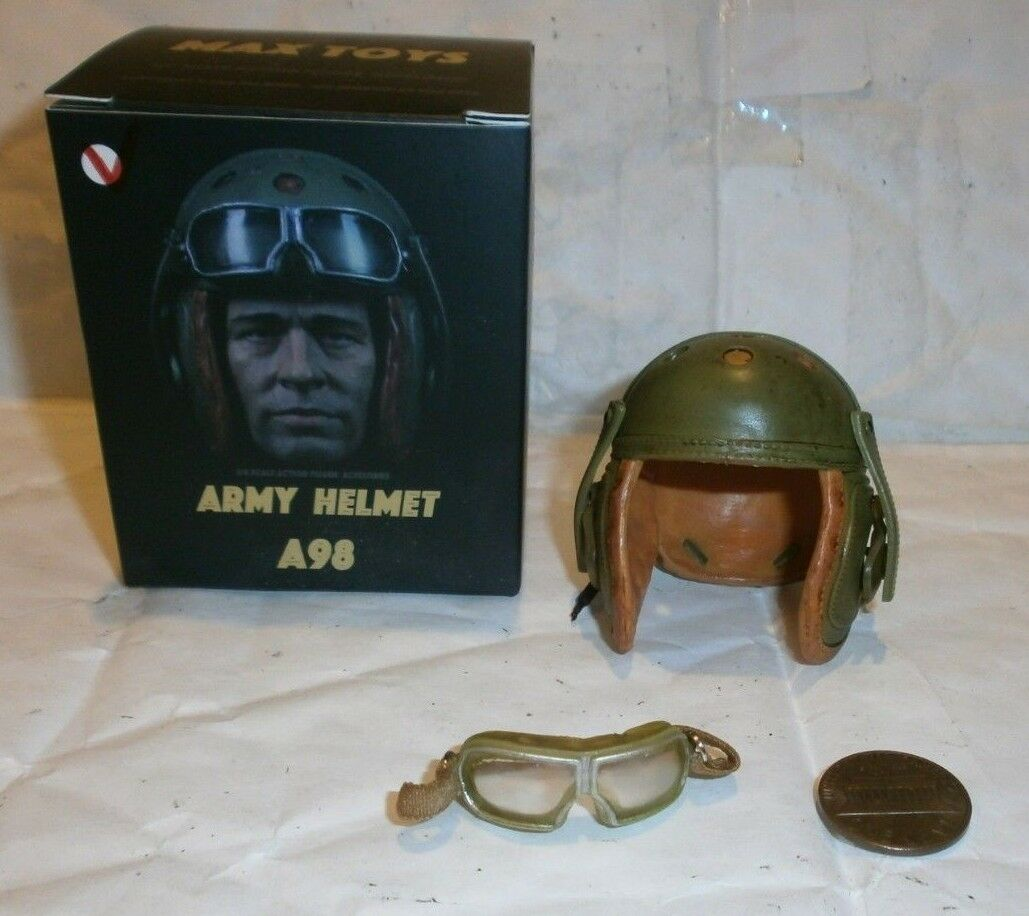 MAX TOYS US Tanker helmet with goggles A98 1 6th scale toy accessory