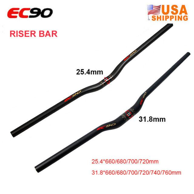Carbon Mountain road MTB bike 31.8 handlebar riser//flat Bar red logo 580-640mm
