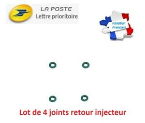 4-JOINTS-TORIQUE-O-RING-retour-tuyau-durite-de-gasoil-FUITE-OFF-BOSCH-HDI-TDCI