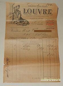 Ancienne-FACTURE-de-Novembre-1924-GRANDS-MAGASINS-du-LOUVRE-Draps-et-Taies