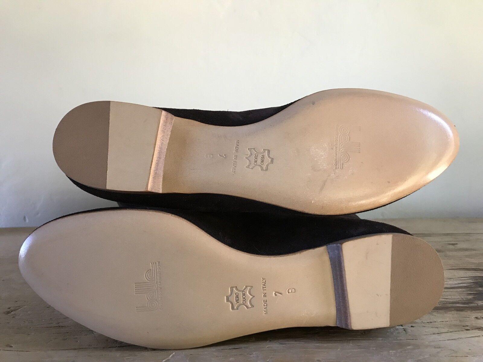 NEW  400 Belle Belle Belle by Sigerson Morrison Flat Dark braun Suede Leather Stiefel schuhe 37 c9c65d