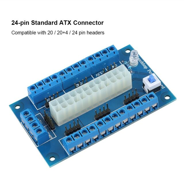 Cable Length: Connector ShineBear ATX 20//24Pin Benchtop Board Computer PC Power Supply Breakout Module Adapter with USB 5V Port New