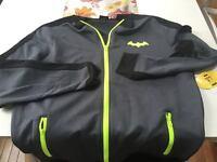 Batman Dc Comics Superhero Mens Unisex Large Black Track Jacket