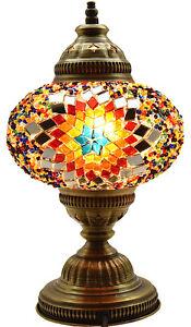 GRAND-2016-Turque-Marocain-Mosaique-Table-Chevet-Bureau-Tiffany-Lampe-Lumiere