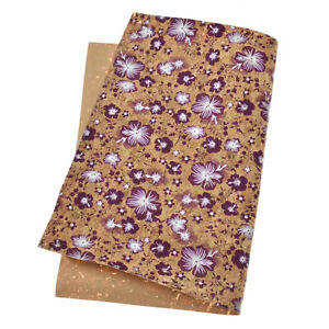 A4-Flowers-Printed-Soft-Cork-Fabric-Sheets-Bow-DIY-Craft-Bag-Shoes-Material