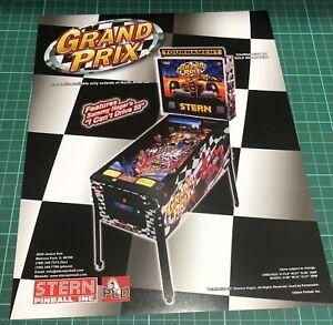 Stern Grand Prix Arcade Pinball Flyer, Advert