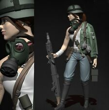 1//35 Resin Female Cowboy Cowgirl W//gun Unpainted Unbuild BL812