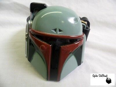 AWESOME STAR WARS BOBA FETT BOUNTY HUNTER CLOSE UP FACE BUCKLE WITH BELT *NEW*