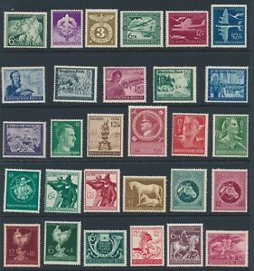 Lot-Stamp-Germany-1941-WWII-Third-Reich-Hitler-RAD-Vienna-Sets-Mozart-Horse-MNH