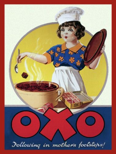 Retro metal Sign//Plaque Wall vintage Kitchen Gift Oxo