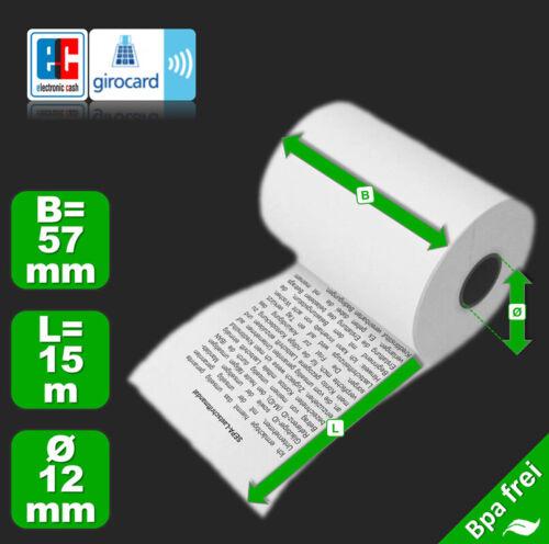 Lastschrifttext 50 EC Cash Thermorollen 57 mm x 15 m x 12 mm Ø 36 mm Topdeal