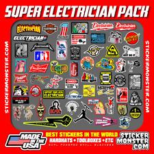New Electrician 55 Hard Hat Stickers Hardhat Decals Lineman Reddy Ibew