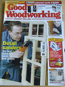Good Woodworking Magazine Issue 161 2005 Cradle Rocker Tilting Table