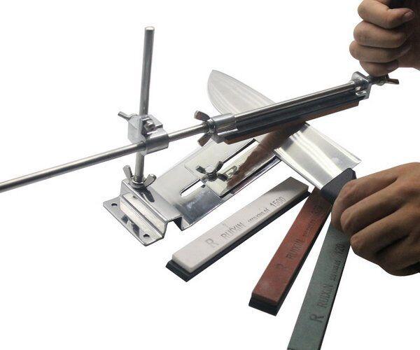 HOT SALE Kitchen Sharpening Stone Scissor Knife Blade Sharpener With 4 Stone