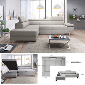 Swell Details About Bmf Molina L Modern Corner Sofa Chrome Legs Bed Storage Faux Leather Fabric Lf Uwap Interior Chair Design Uwaporg