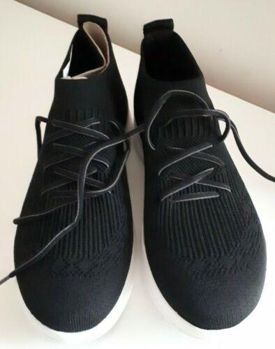 FitFlop Negro Resbalón en Zapatillas Entrenadores UK 5/EU 38/US 7.5 RRP £ 80