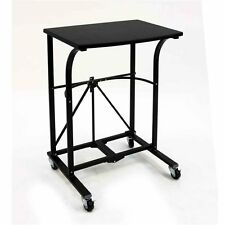 Laptop Table Desk Computer Rolling Trolley Portable Folding Work Workstation NEW