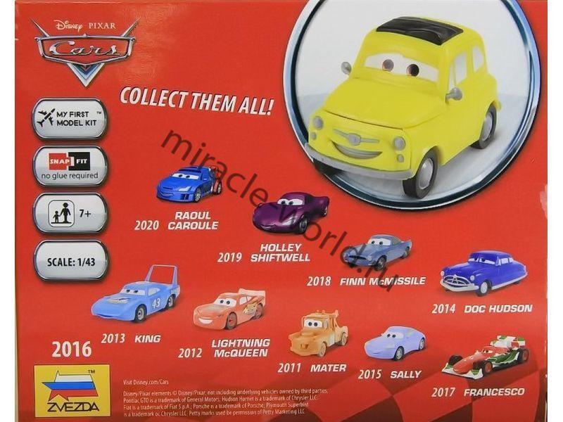 Disney Pixar Cars Mcqueen Mater King 1:43 Scale Model Kits de montagem Zvezda