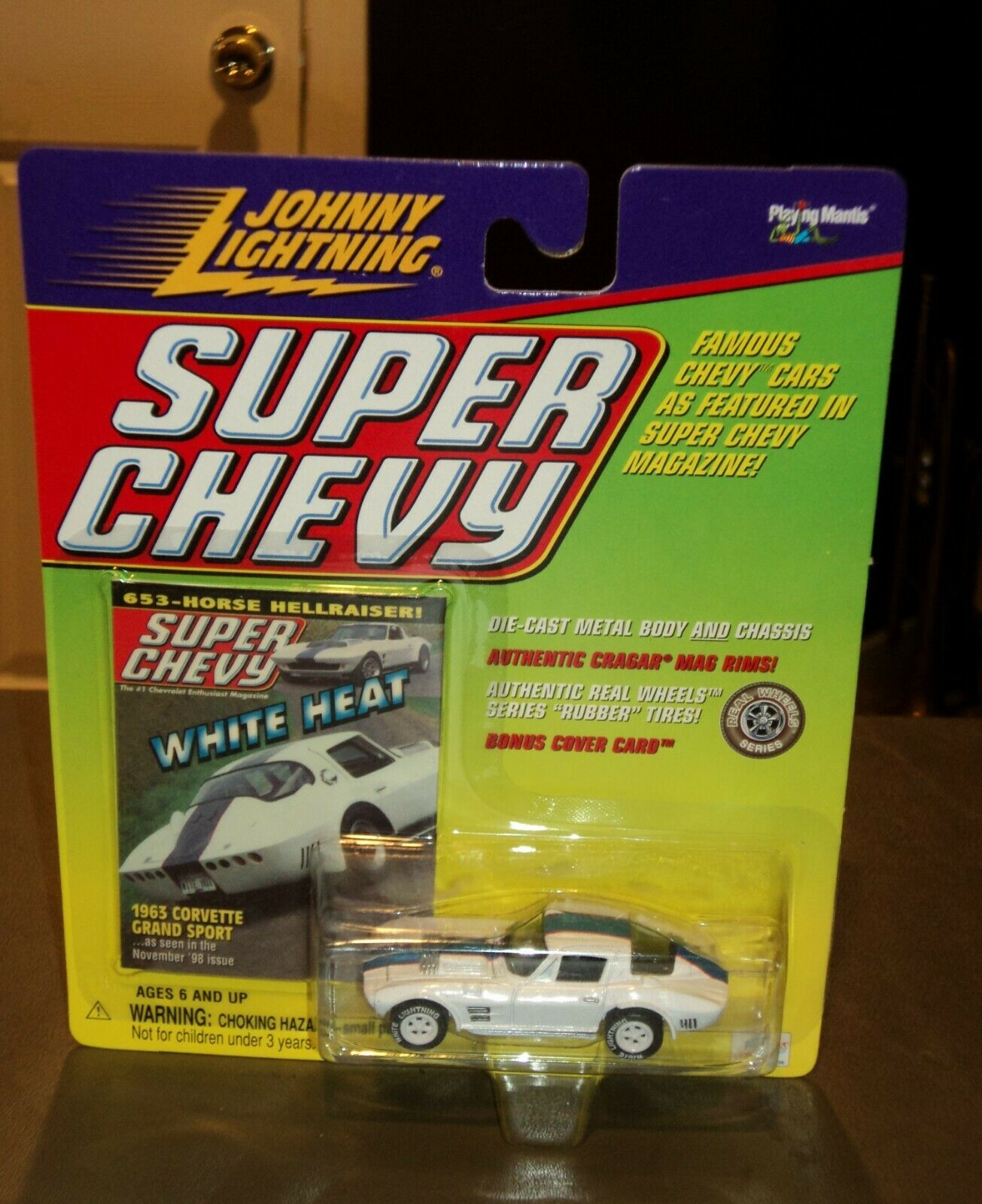 NEW Johnny  WHITE Lightning  Super Super Super 63 Chevy Corvette Grand Sport CHASE 1963 Heat 86c0dd