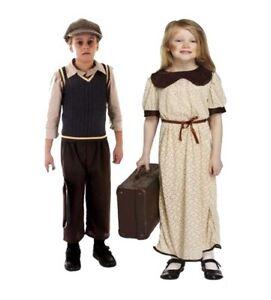 Childrens-World-War-1-2-Evacuee-Boys-Girls-Book-Week-Fancy-Dress-Up-Costume