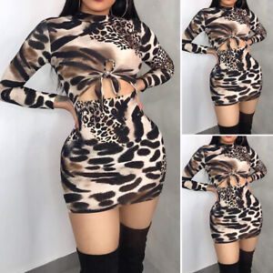 Women-039-s-Long-Sleeve-Bandage-Bodycon-Evening-Party-Cocktail-Club-Short-Mini-Dress