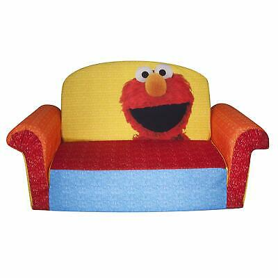 Sesame Street's Elmo Flip Open Foam Sofa Kids Lounger Play ...