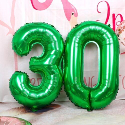 """32/"""" Géant Vert numéros Foil Balloon mariage célébration fête d/'anniversaire Décoration"""