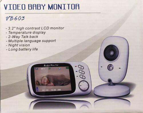 Vb603 sans fil 3.2 in Moniteur LCD vidéo babyphone-vision nocturne-Sommeil chansons