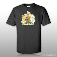 British Royal Coat Of Arms T-shirt Tee Shirt Free Sticker United Kingdom Flag Gb