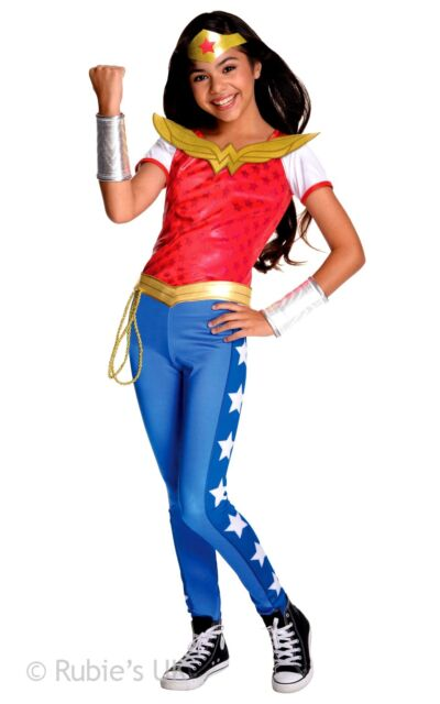Kids Girls Grecian Goddess Princess Comicbook Hero Wonder Fancy Dress Costume