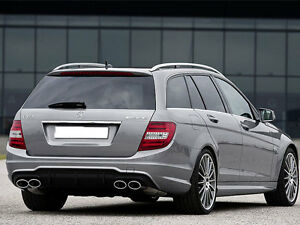 mercedes w204 s204 amg c63 rear bumper diffuser c200 c220. Black Bedroom Furniture Sets. Home Design Ideas