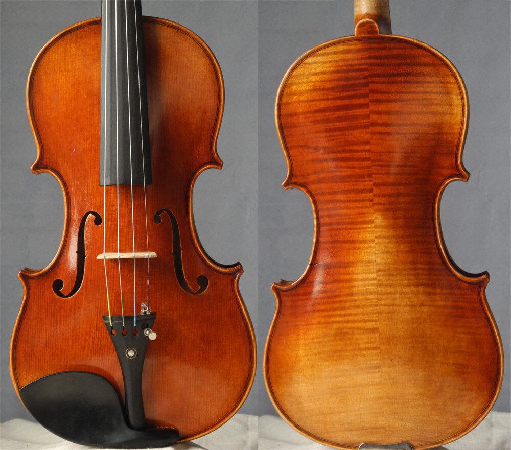 Master handmade violin stradivari violon geige 4 4, strong tone
