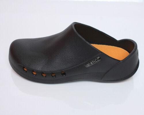Womens Chef Kitchen Shoes Non-Slip Cook Slipper Indoor Clean BLACK I/_g STICO