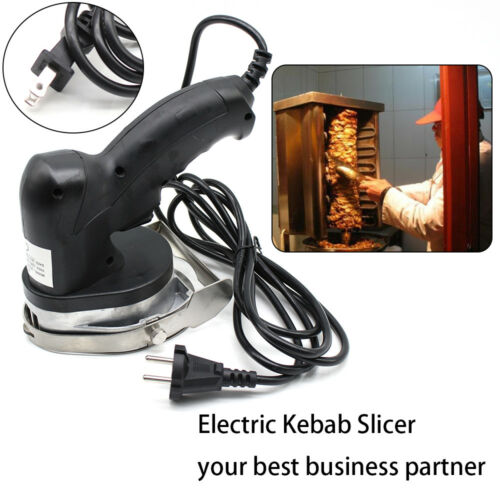 Professional Electric Shawarma Meat Cutter Slicer Cutlery Gyro Doner Kebab USA