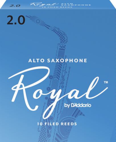 Royal by D/'Addario Alto Saxophone Reeds 10-pack Strength 2