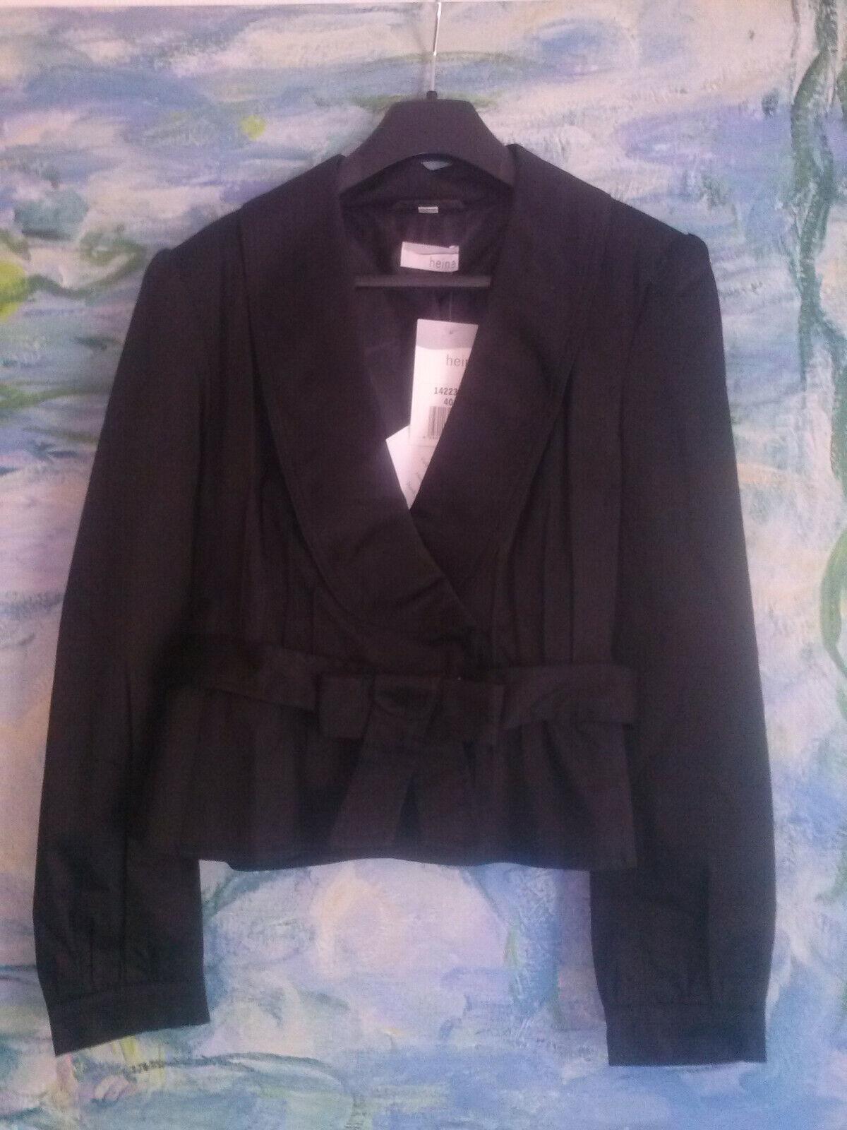 Baumwolle femininer Damen Blaser Jacke von HEINE schwarz Gr. 34 NEU mit Etikett