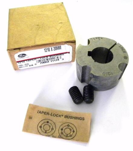 3 AVAILABLE Gates 1210 X 20MM Taper-Lock Bushing 20 MM Bore 7858-0520