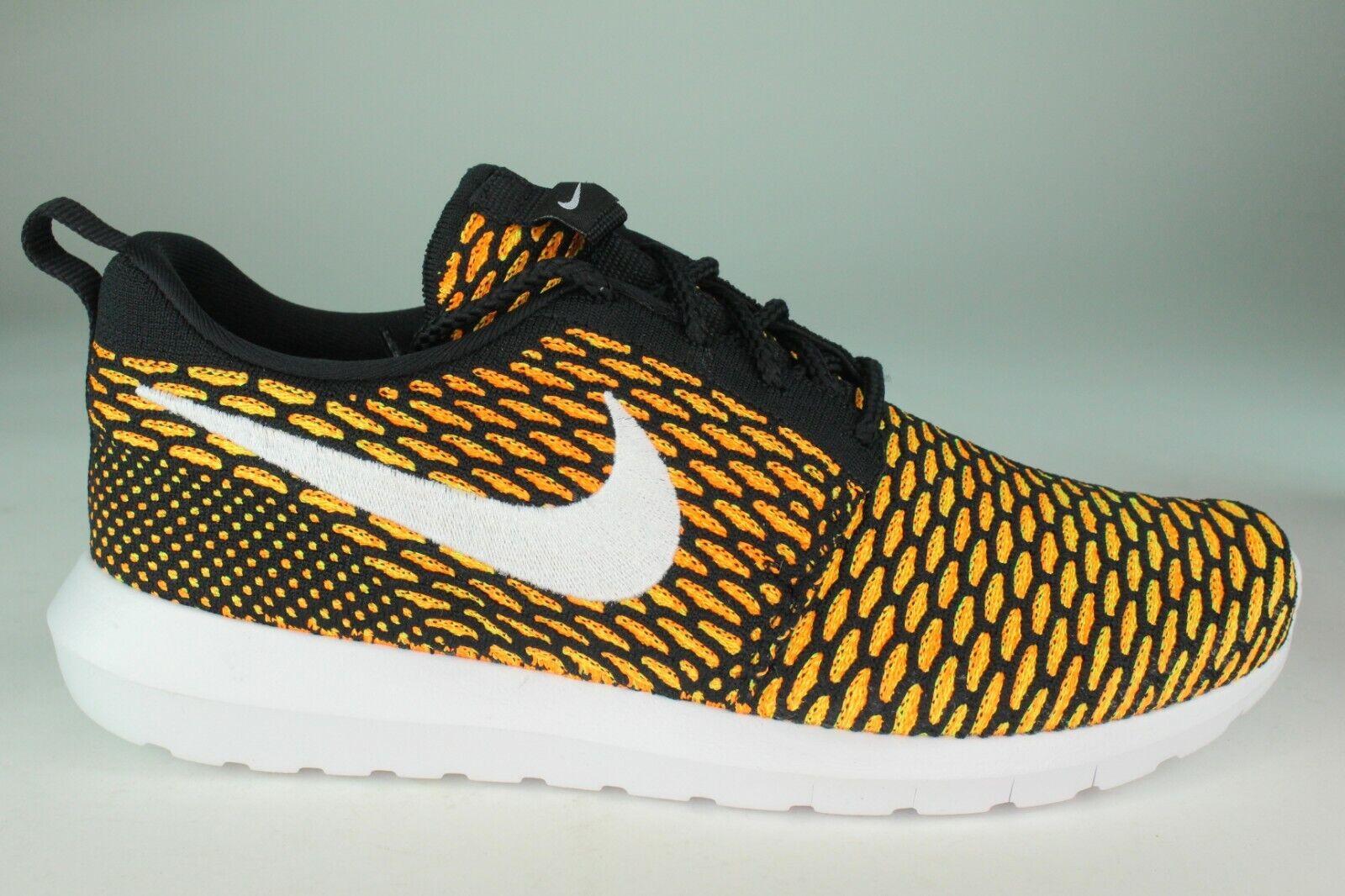 Nike roshe Presque comme neuf Flyknit Men Taille 9.0 & 13.0 total Orange NEUF RARE confortable