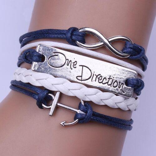 New 11 Designe Friendship Bracelet One Direction Fashion Leather Bracelet