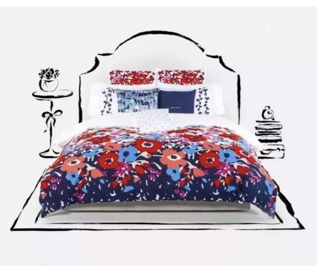 Kate Spade Comforter Set Twin XL Poppy Fields 2PC College Extra Long Twin EUC