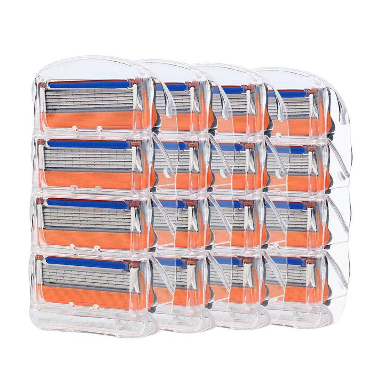 20PCS 5-layer Men's Razor Blade Refills for Fusion Orange Ca