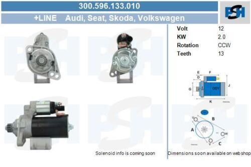 Anlasser für Startanlage 300.596.133.010 null AUDI SEAT SKODA VW