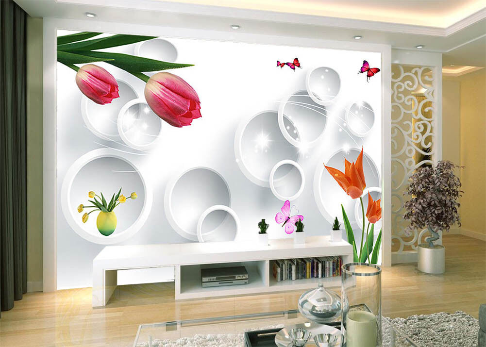 Fragrance Of Flowers 3D Full Wall Mural Photo Wallpaper Printing Home Kids Decor