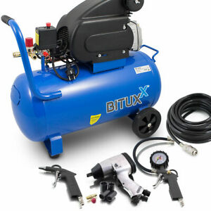 Kompressor Mit Zubehör : bituxx druckluftkompressor 50l kompressor mit 8 tlg ~ Watch28wear.com Haus und Dekorationen