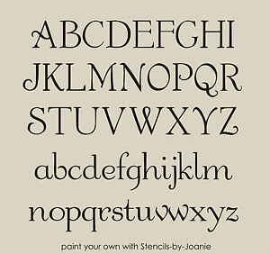 image is loading french chic alphabet stencils shabby font 3 034