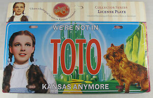 WIZARD-OF-OZ-METAL-LICENSE-PLATE-TOTO-DOROTHY-L327