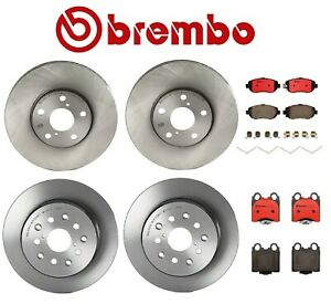 For Lexus GS300 2006 Set of Front /& Rear Disc Brake Rotors /& Pads